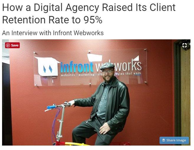 Digital agency raised it's client retention rate 95%