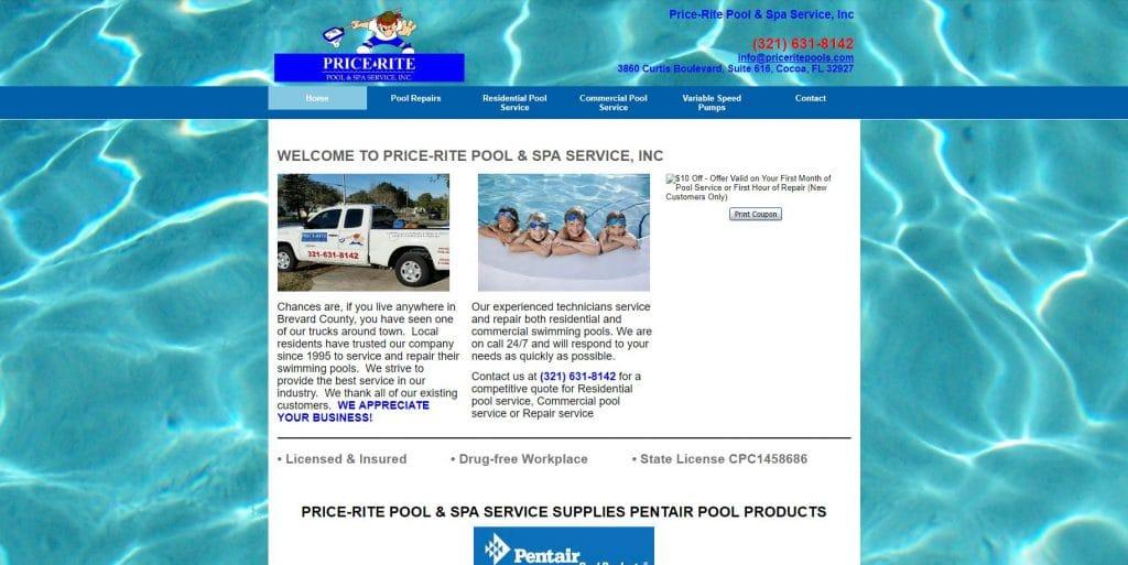 price rite pools old site