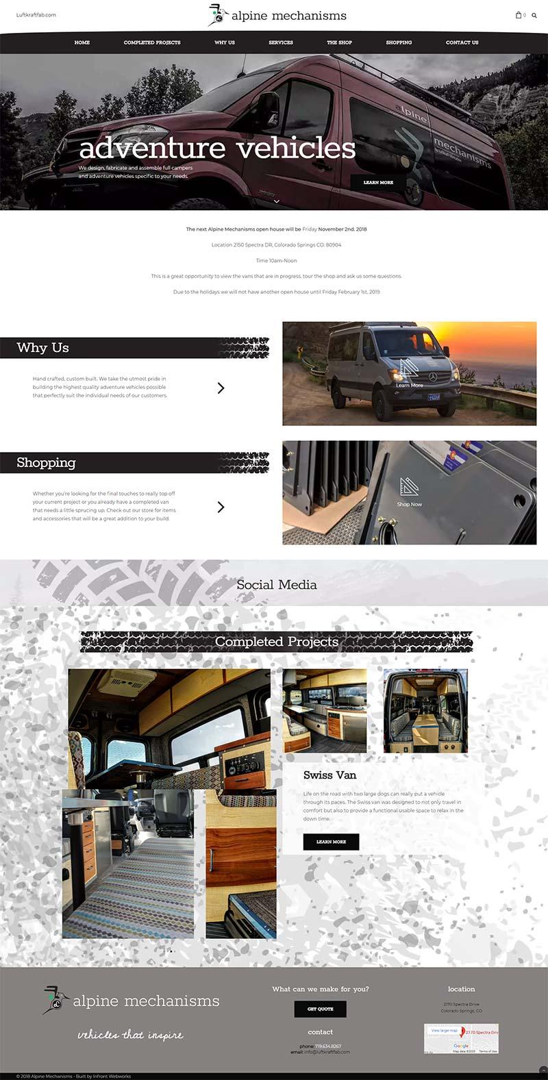 alpine mechanisms website front page