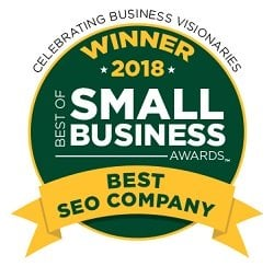 The Best of Small Business Awards- Best SEO Company Seal