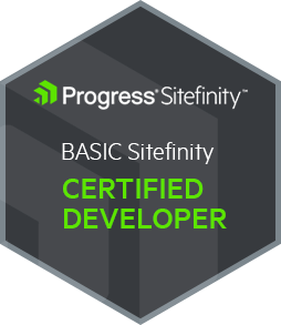 Certified Sitefinity Developer Badge