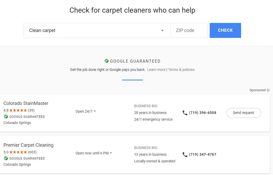 local services ads Google Guaranteed