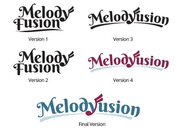 melody fusion logo versions