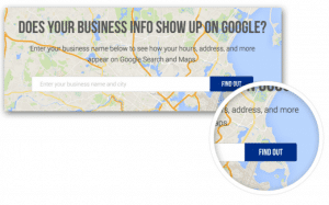 does your business show up on google