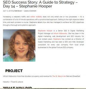 Stephanie hooper blog coverage
