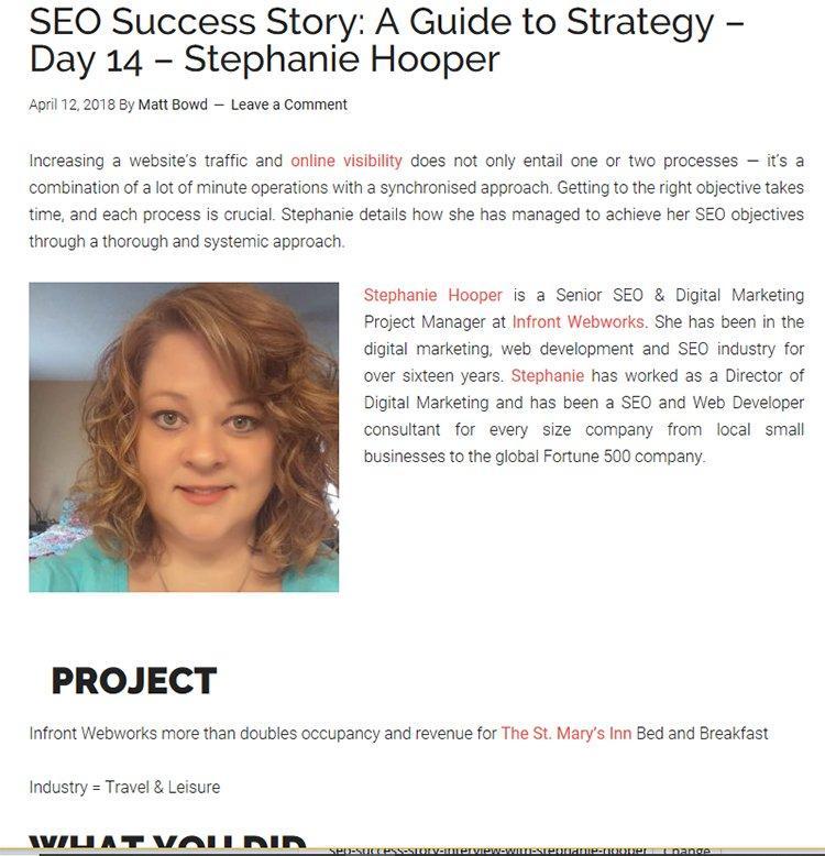 Stephanie hooper blog coverage