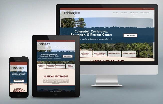the nature place website responsiveness