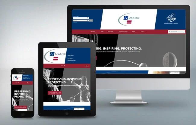 USADA responsive website design