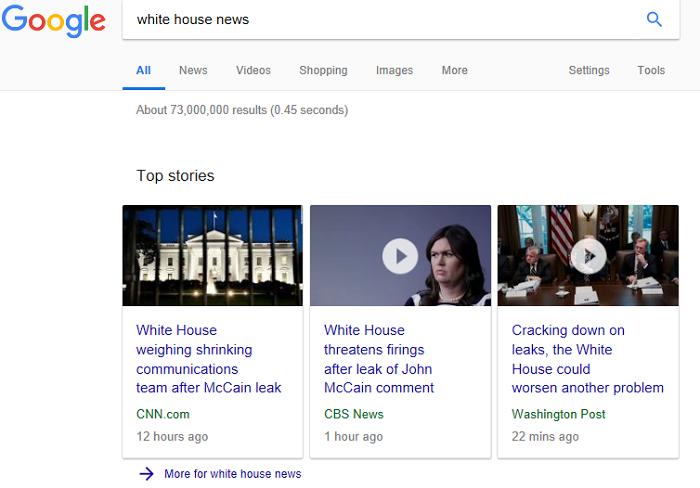 News schema rich snippett