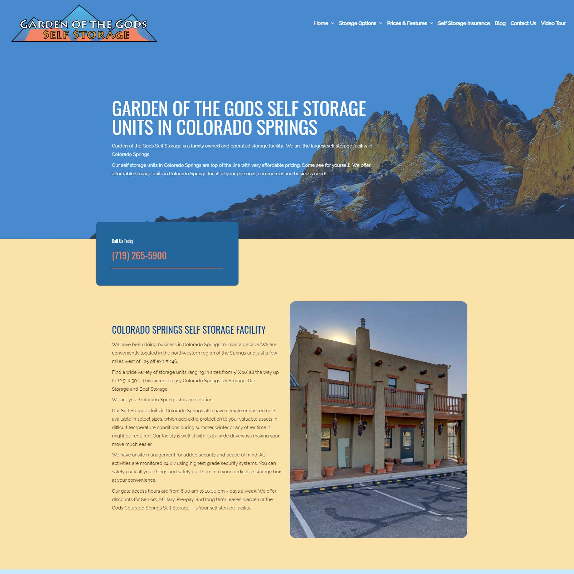 garden of the gods self storage