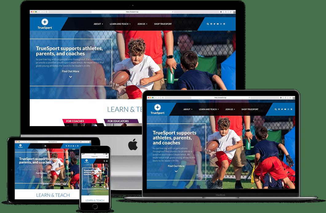 truesport responsive website design