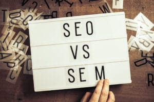 understanG differences between SEO and SEM