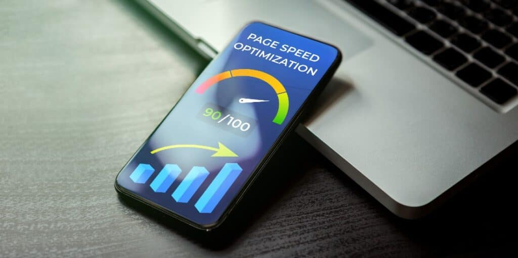 site speed optimization on mobile phone